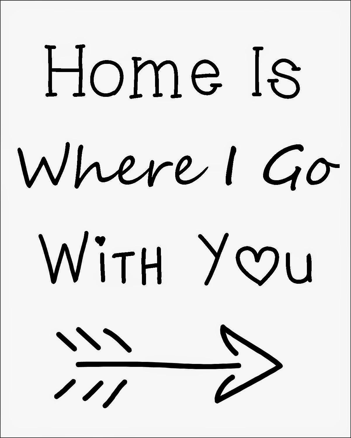 Home Is… Printable