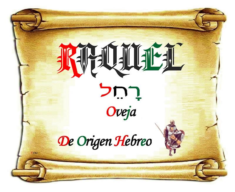 El origen de los nombres: Raquel