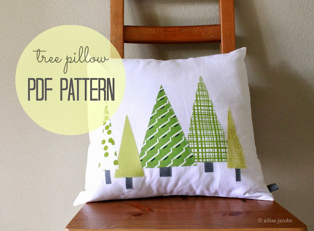 allisa jacobs tree pillow sewing pattern