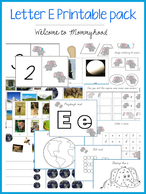 Tot Labs presents Letter of the Week: Letter Ee! Here are tons of montessori inspired hands on learning activities for the letter E! #montessori, #preschool, #handsonlearning