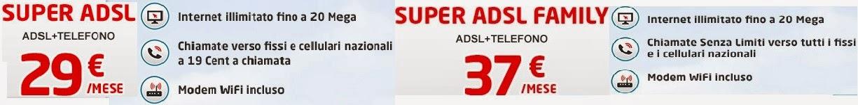 TeleTu Super ADSL e ADSL Family, i costi mensili e le offerte incluse