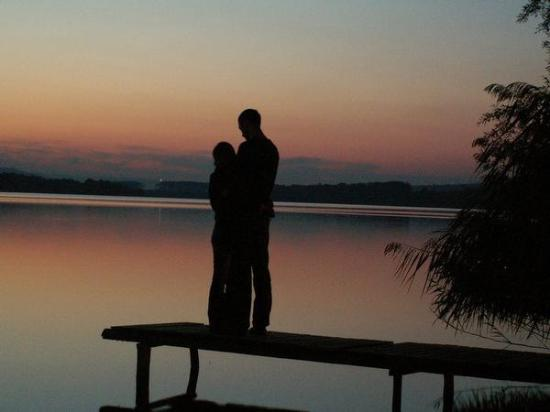 beautiful sunset scene