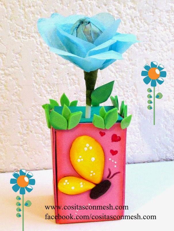 Regalos una flor para el d a de la madre manualidades - Manualidades para regalos ...