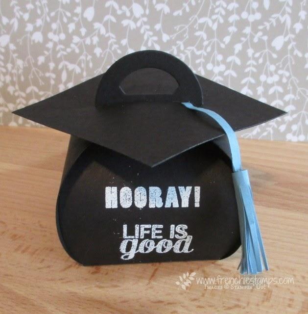 Graduation Cap with Curvy Keepsake Box Frenchies Stamps – Graduation Cap Invitation