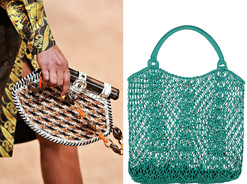 Дамска мода при плетените чанти