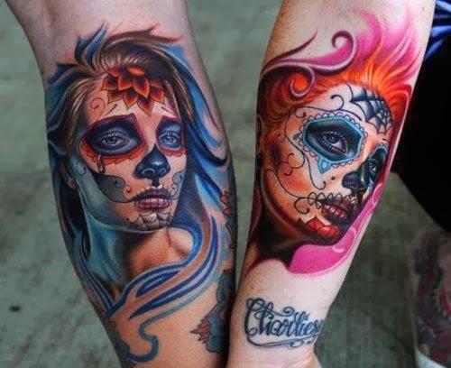 Girls fashion trends and ideas sugar skull tattoos for Pretty skull tattoos