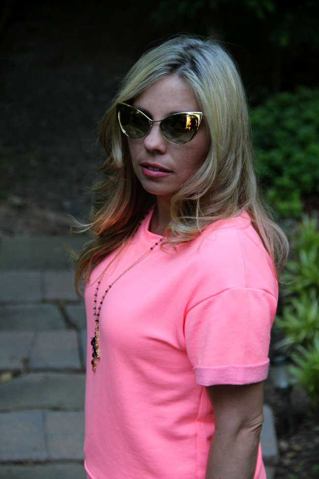 Pink Sweater - Zara, Nastasya Sunglasses - Tom Ford, Accessories - TJ Maxx