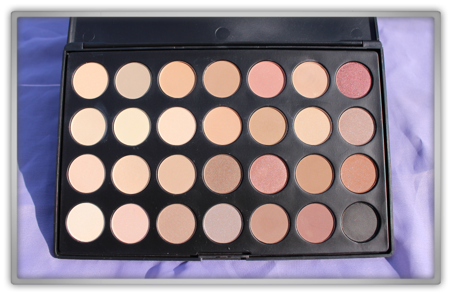 Sedona Lace Brushes Makeup Haul review 28 Neutral Palette eye shadow nude shades matt shine