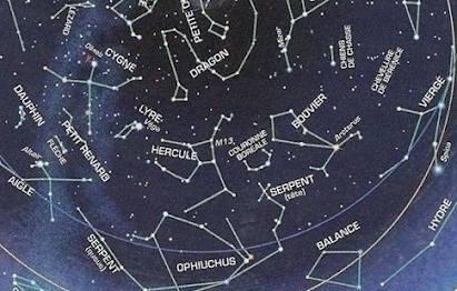Constellation d'Hercule et son voisinage