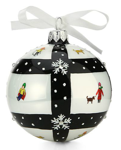 Satchel michael storrings monochrome christmas tree ornament for Michaels christmas tree ornaments