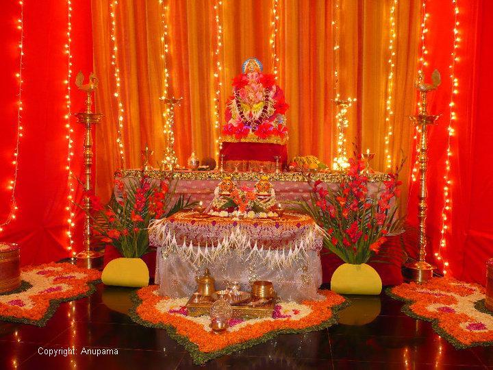 God Wallpaper Decor : Ganpati decoration at home ideas god wallpapers