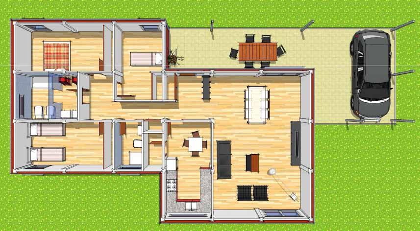 Arquitectura arquidea futuria home nos presenta sus for Planos de casas de tres recamaras