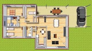 plano casas modulares