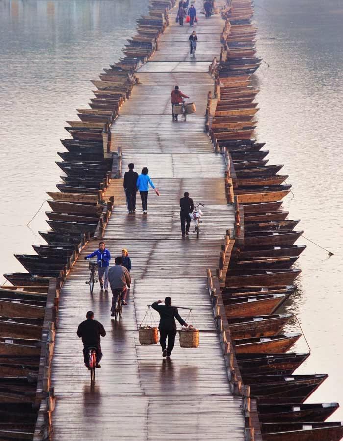 Pontoon Bridge, China