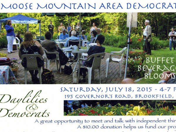 Moose Mountain Area Dems Event-Sat July 18th, 4-7