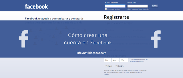 Cómo crear una cuenta en Facebook