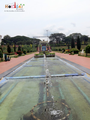 Fountain area in the brindavan gardens