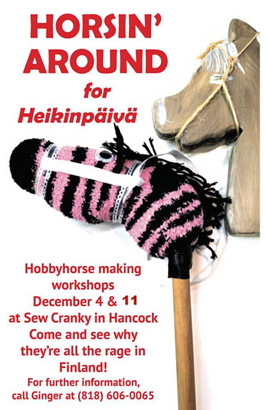 Join the Heikinpäivä community fun -- make your own Hobby Horse!