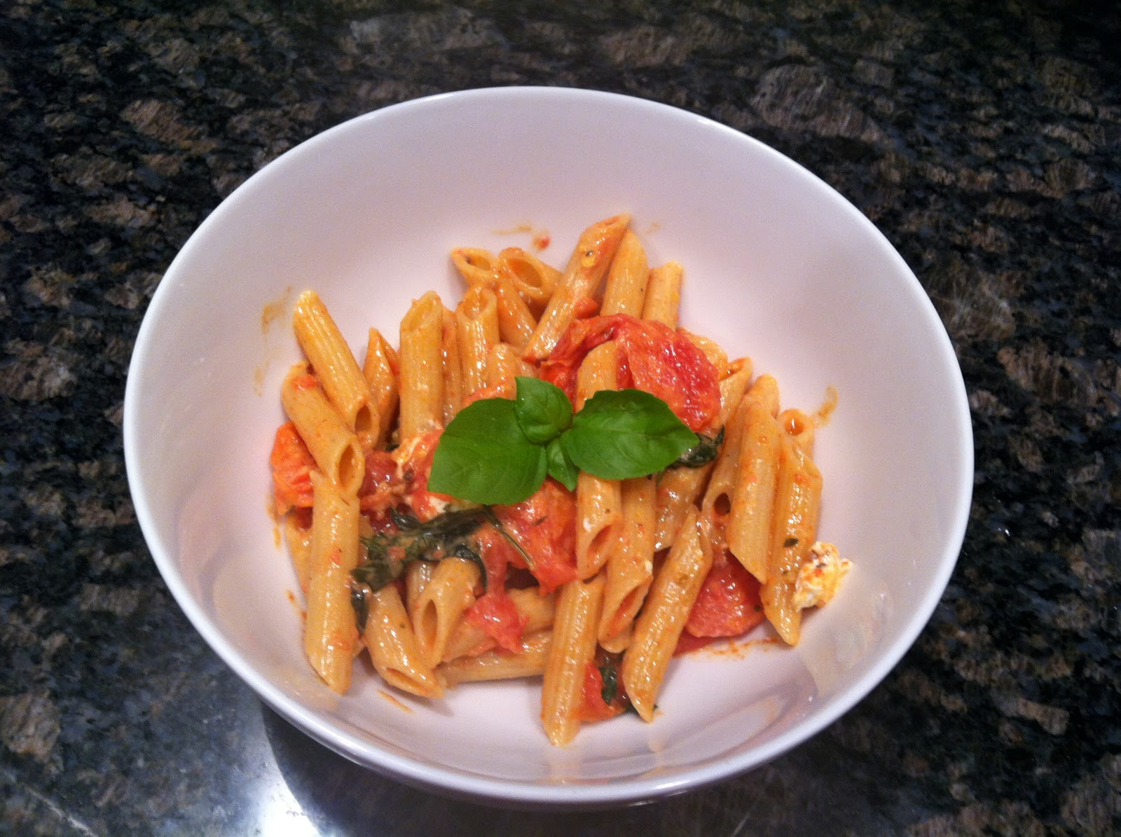 Quick and Easy: Roasted Tomato, Basil and Goat Cheese Penne | Inspired ...