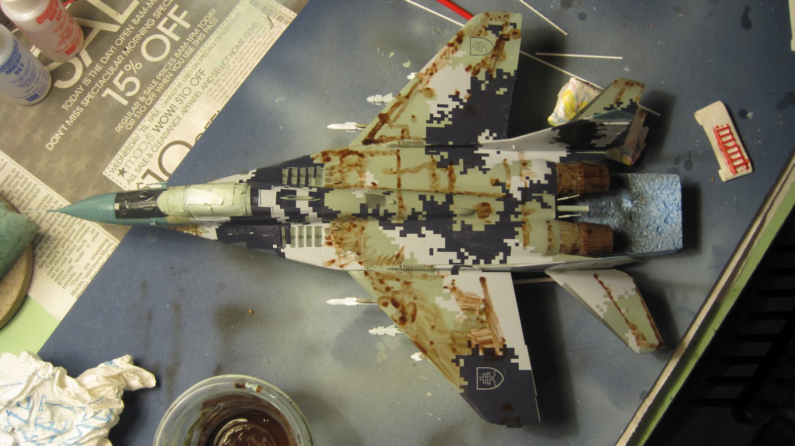 Khanzilla 1 48 Slovak Mig 29 Weathering The Panel Lines