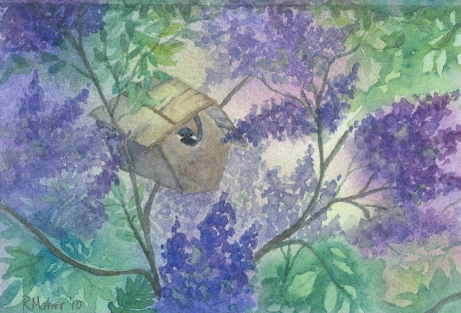 Chickadee in the Lilac