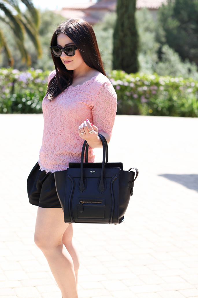karen-walker-northern-lights-sunglasses-pink-lace-top-piperlime-nars-chihuahua-lipgloss-king-and-kind-spring-makeup-tildon-shorts-celine-bag