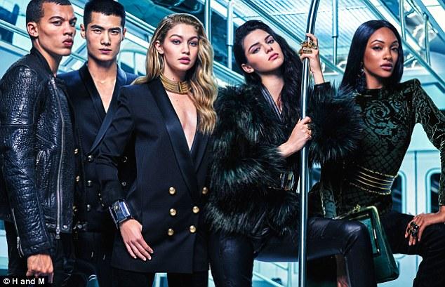 Kendall Jenner, Gigi Hadid and Jourdan Dunn for Balmain x H&M.