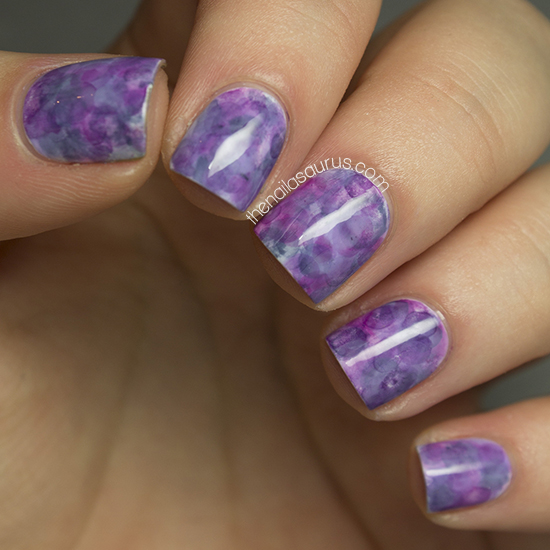 3626 Purple Marble Nial Art - Polling for Life Style & Fashion Competition Nov 2013