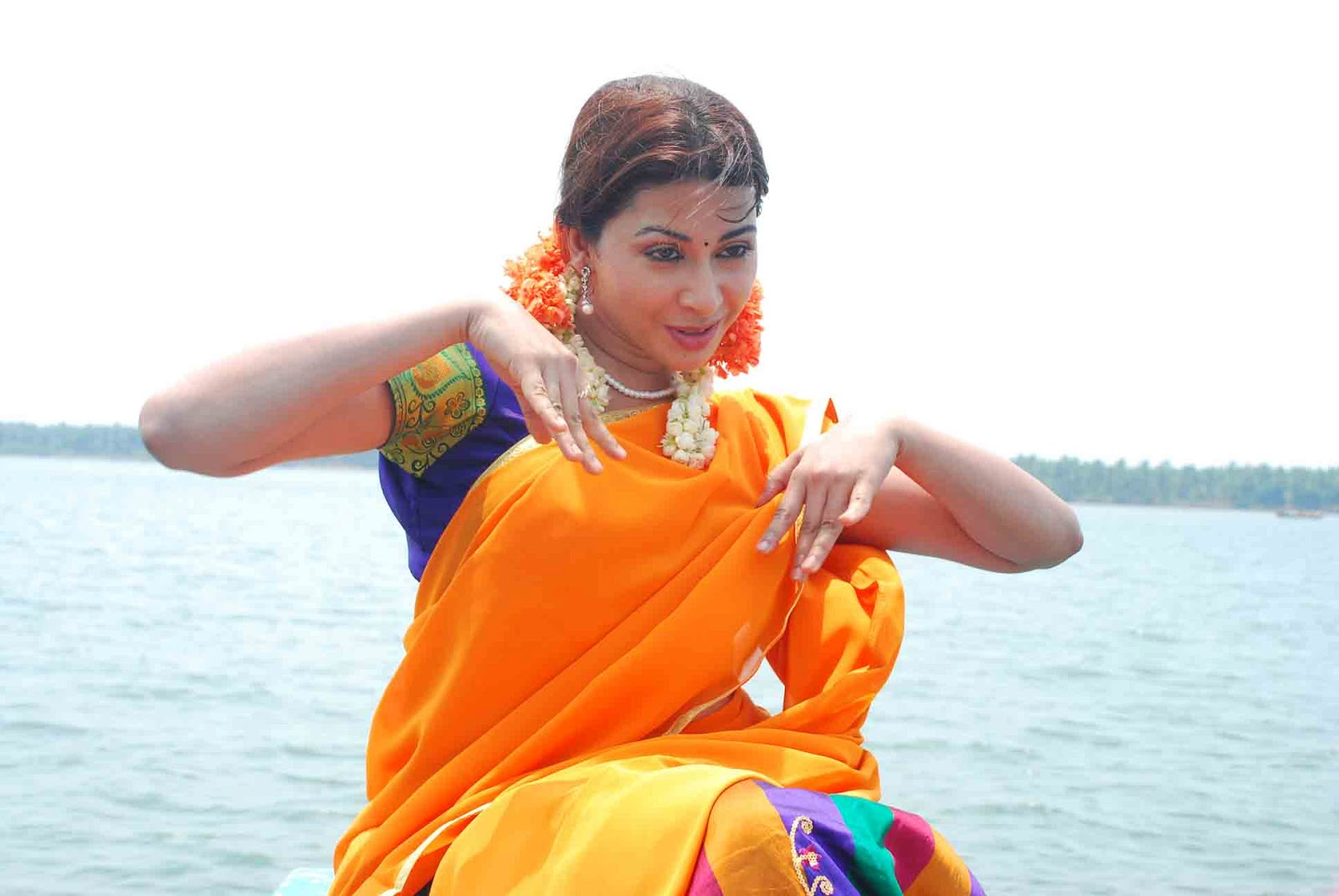 desi hot Gayatri iyer latest photos from dorakadu movie
