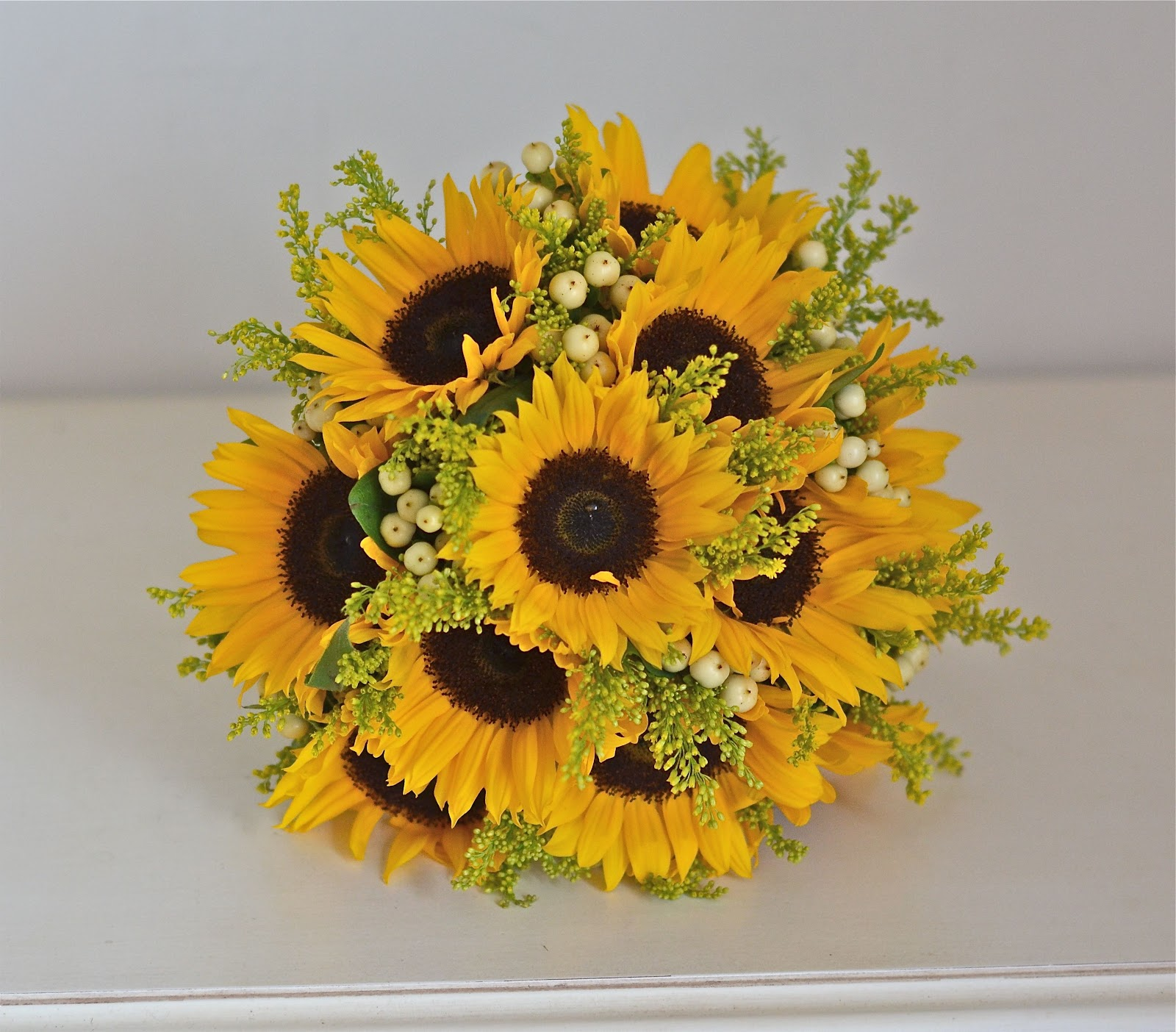 Bridesmaid Bouquets Sunflowers : Wedding flowers april