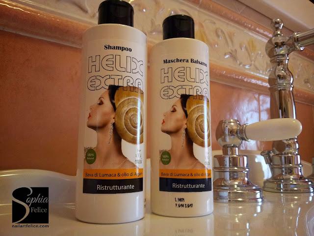 Helix Extra Shampoo Ristrutturante ed Helix Extra Maschera Balsamo Ristrutturante 02