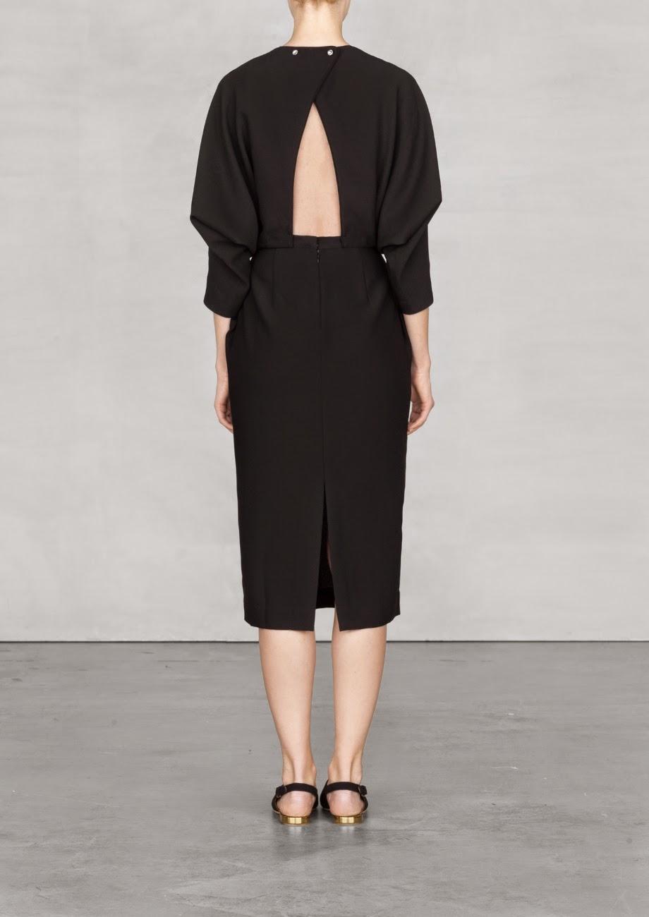 black back detail dress