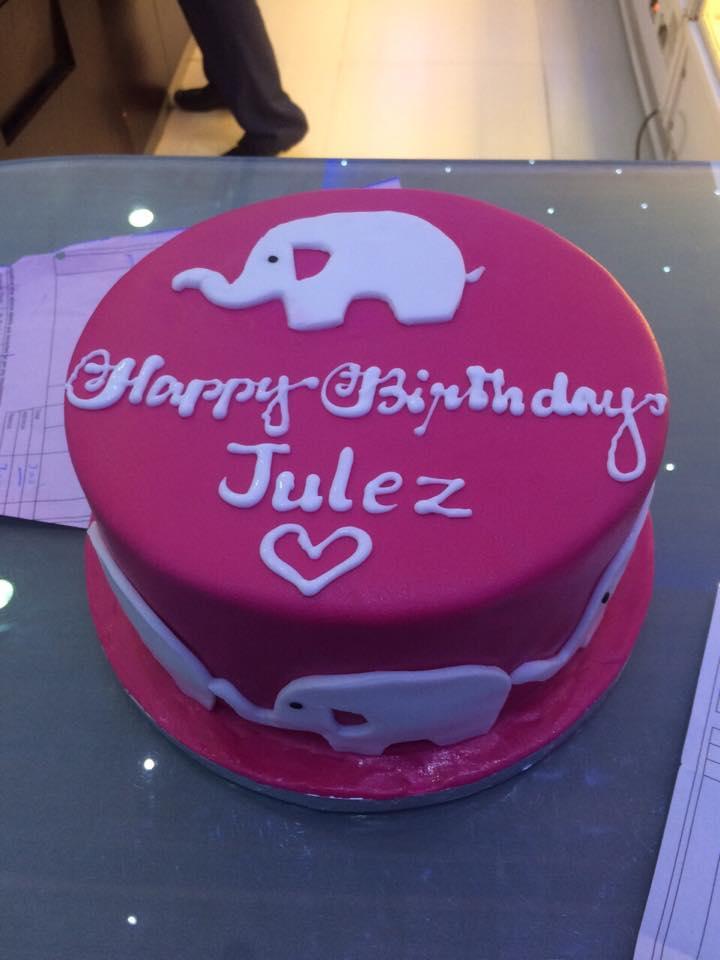 My Elephant Birthday Cake. ♥