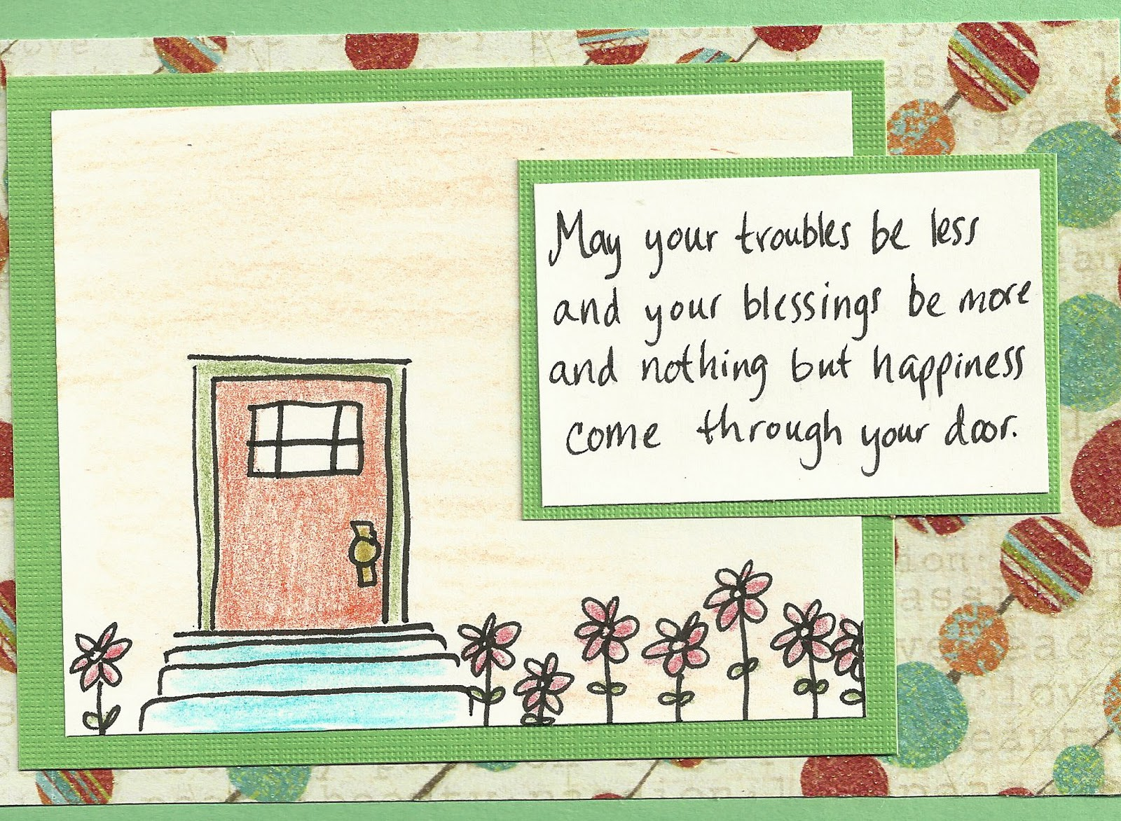 Debbie Dots Greeting Card Blog New Home Door