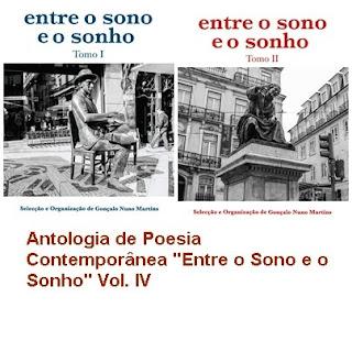 """Co-autora na Antologia de Poesia Contemporânea """"Entre o Sono e o Sonho"""" Vol. IV"""