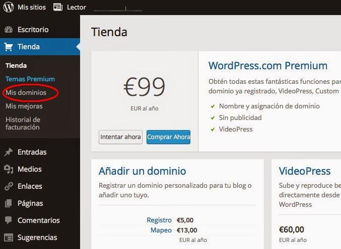 ¿cómo lo vinculo con mi blog de wordpress.com?
