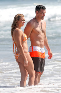 LeAnn Rimes goes for a dip in the ocean