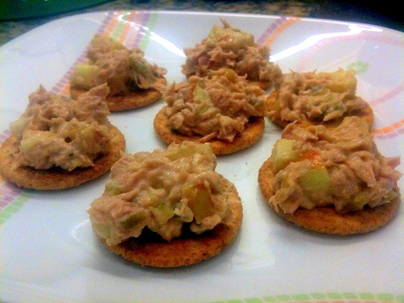 Tuna Salad With Crackers Savory celery tuna salad