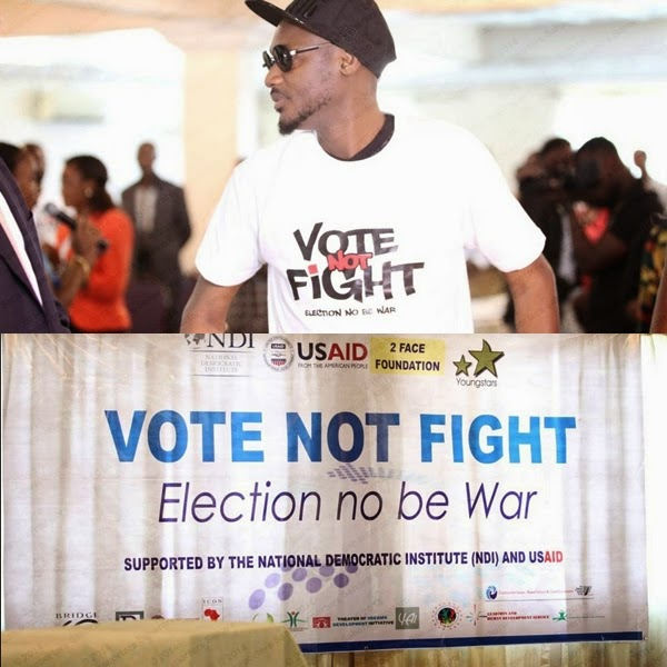 2Face Idibia Leads Election No Be War Campaign In Lokoja