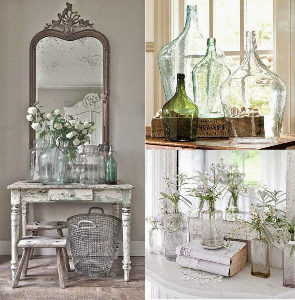 Tarros y botellas de cristal para decorar virlova style