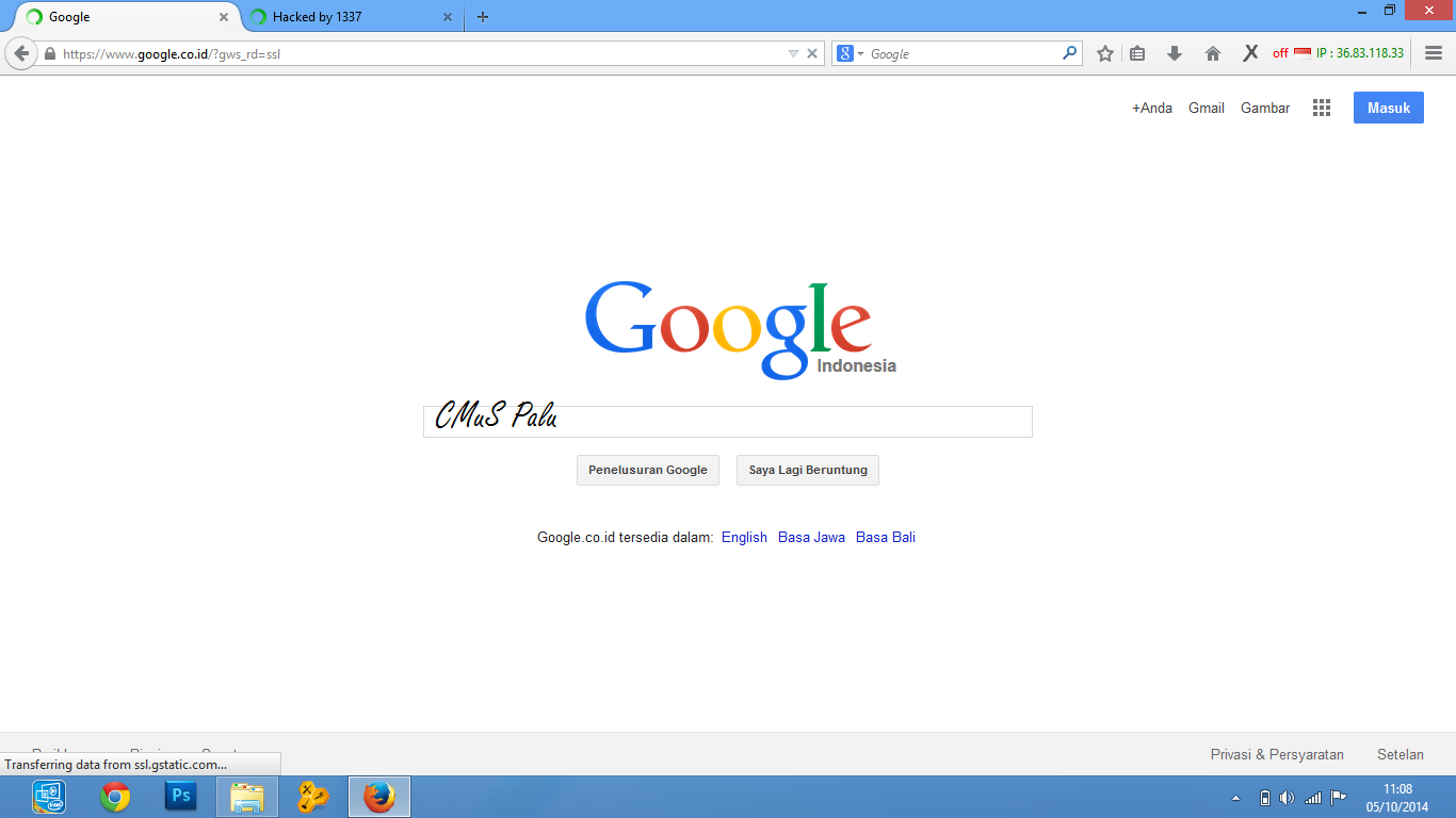Google Indonesia dibajak!
