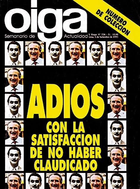 ADIOS CON LA SASTIFACCION DE NO HABER CLAUDICADO