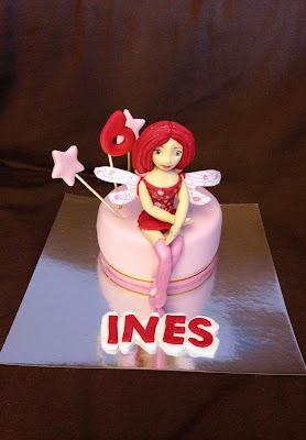 tarta mia and me; mia and me; tarta; cumpleaños; dulce; dibujos; mia