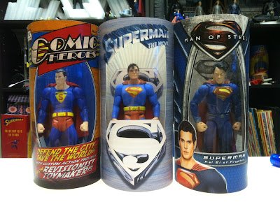 Custom superman figure Man of Steel Superman movie Batman Action Comics 1 Movie Masters Mattycollector