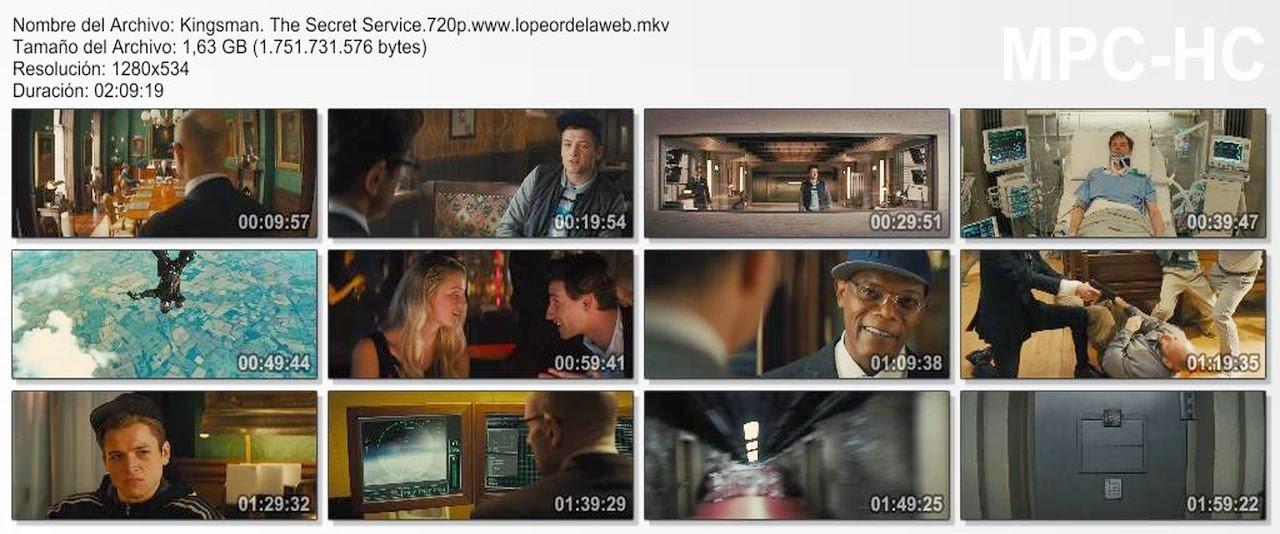 Kingsman:The Secret Service (2014) WEB-DL 720p Latino-Inglés