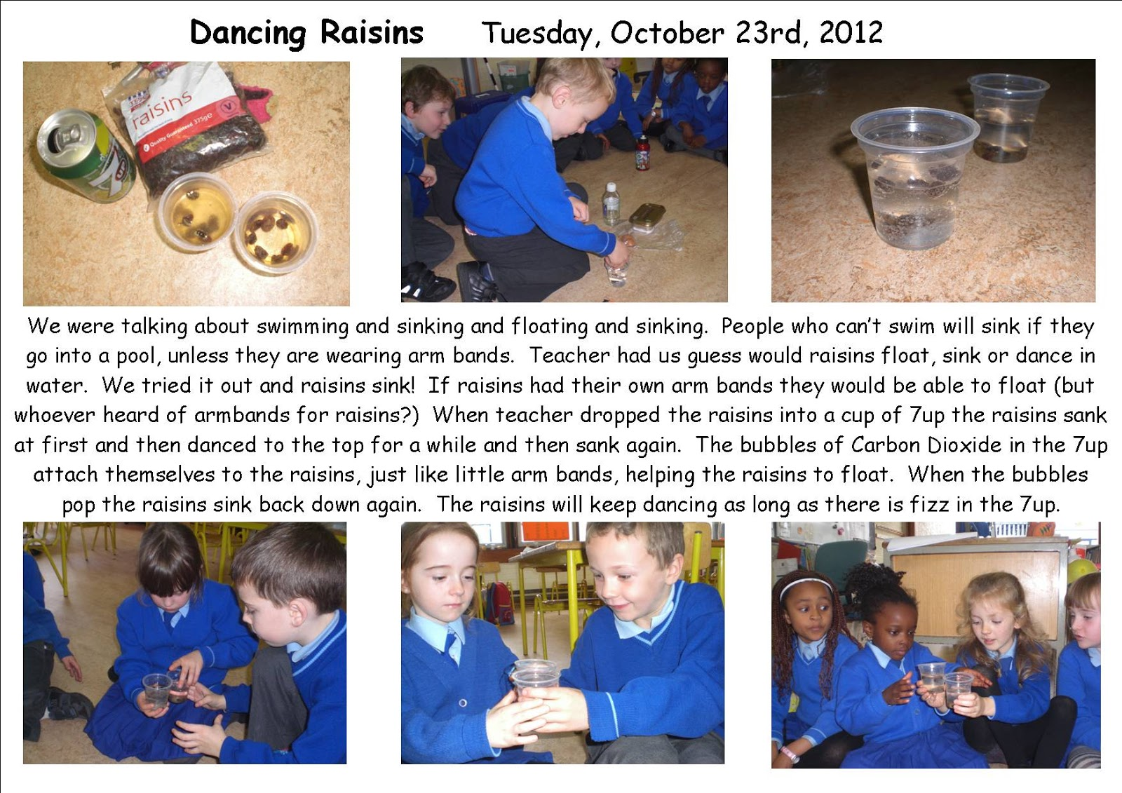 Science Projects Dancing raisins – Dancing Raisins Worksheet
