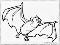 animal bat coloring pages