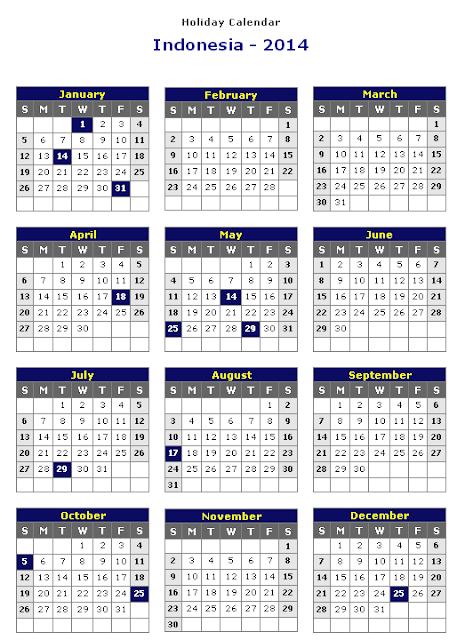 Kalender di tahun 2014
