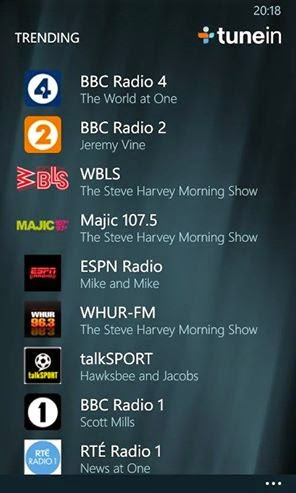 trending tunein radio