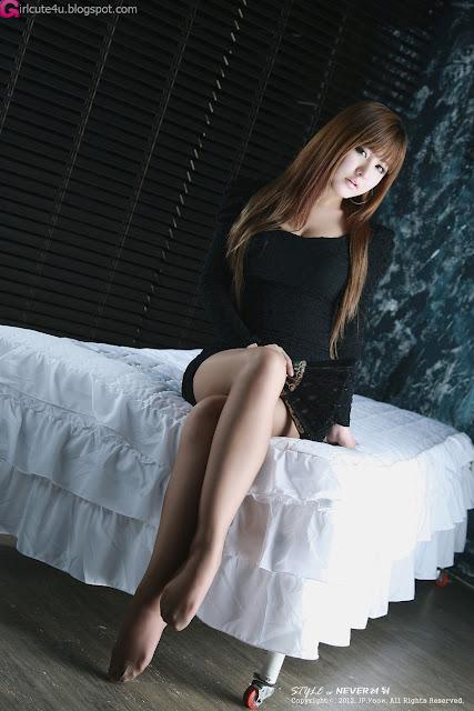 5 Ryu Ji Hye in Black-very cute asian girl-girlcute4u.blogspot.com